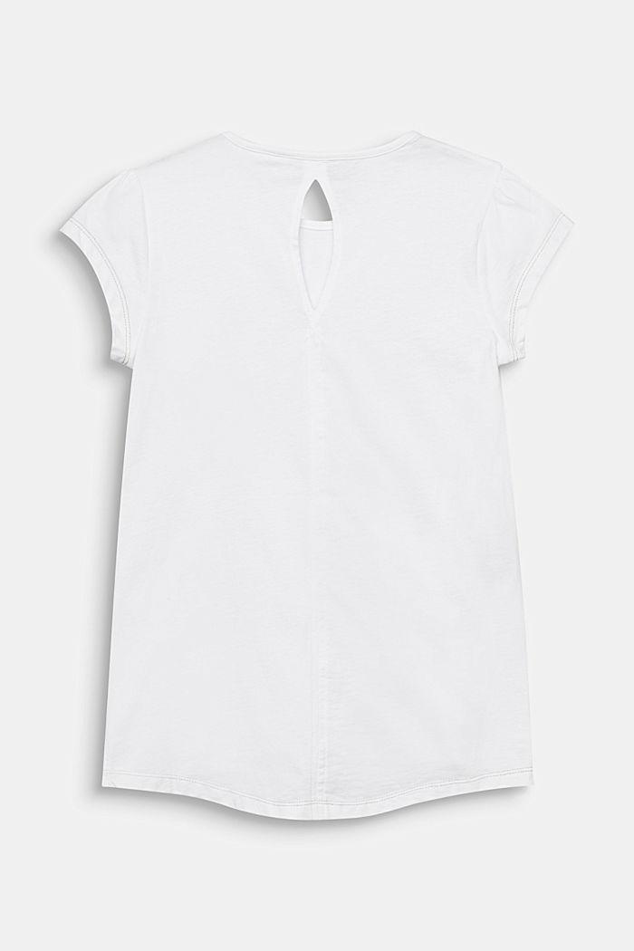 Tričko s foliovým potiskem a nýtky, 100% bavlna, WHITE, detail image number 1