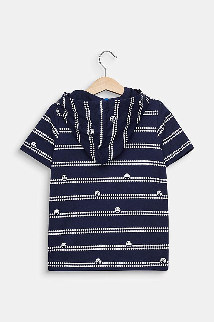 Kapuzen-T-Shirt mit Print, 100% Baumwolle, MIDNIGHT BLUE, detail image number 1