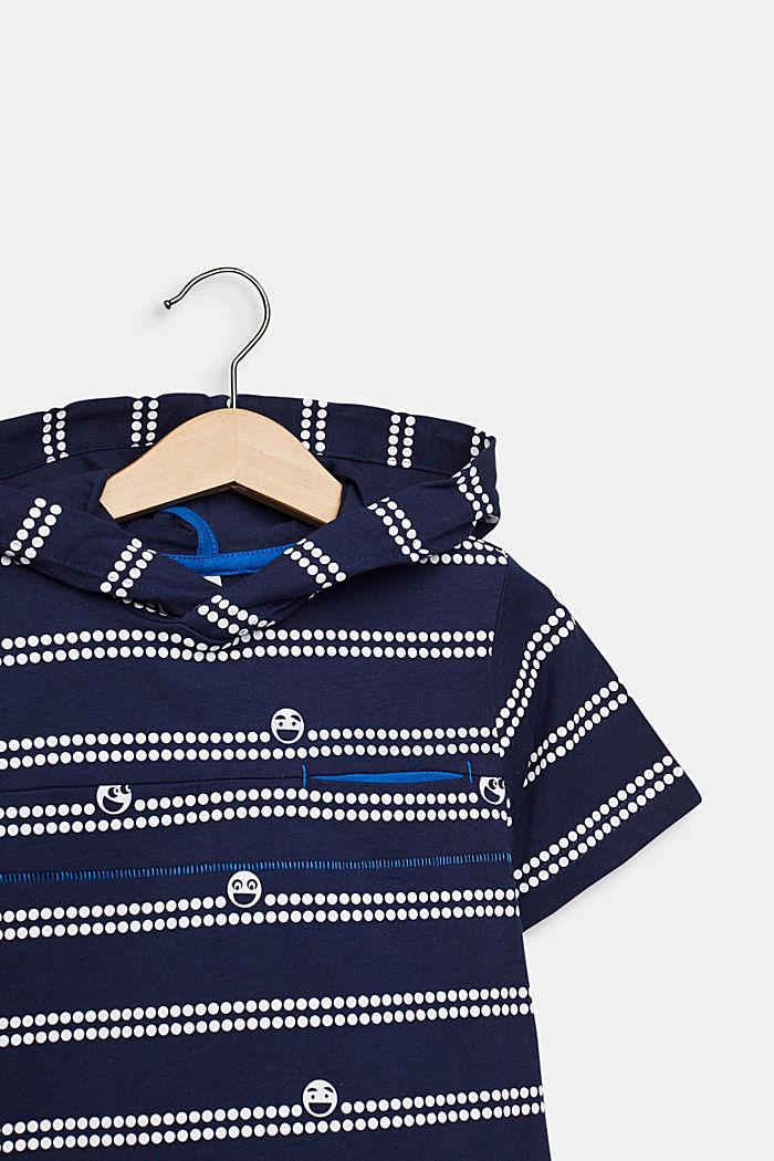 Kapuzen-T-Shirt mit Print, 100% Baumwolle, MIDNIGHT BLUE, detail image number 2