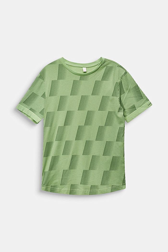 T-shirt med grafiktryck, 100% bomull, PASTEL GREEN, detail image number 0