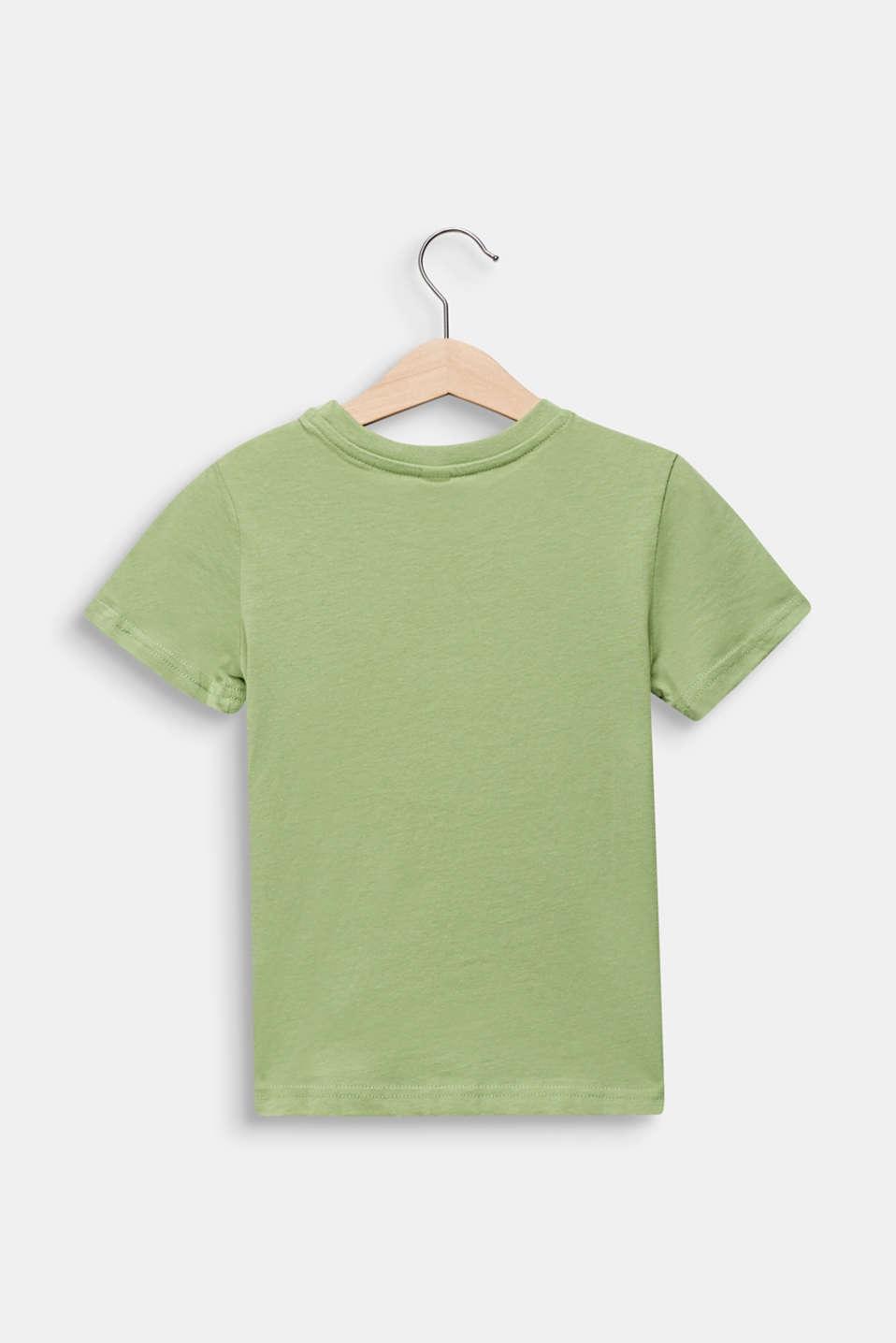 Printed T-shirt, 100% cotton, PASTEL GREEN, detail image number 1