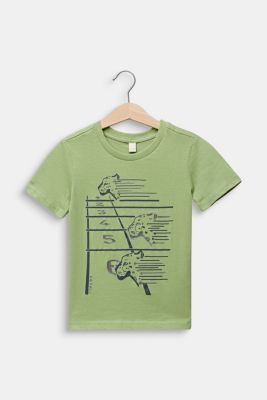 Printed T-shirt, 100% cotton, PASTEL GREEN, detail