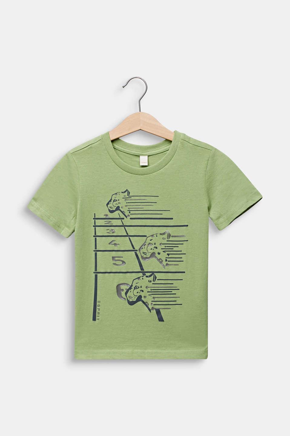 Printed T-shirt, 100% cotton, PASTEL GREEN, detail image number 0