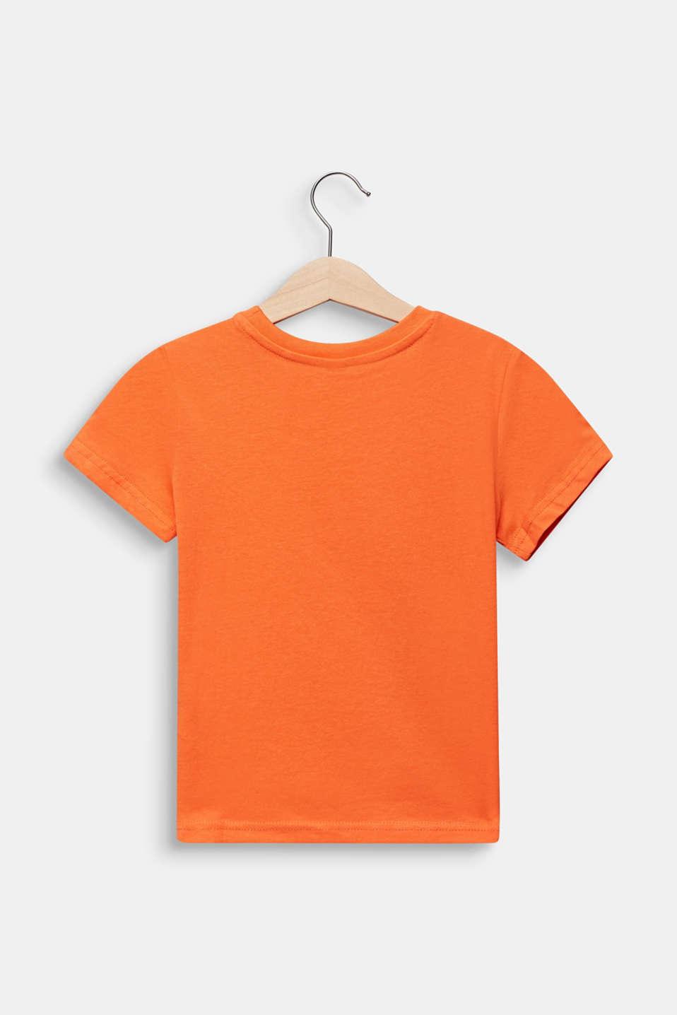 Printed T-shirt, 100% cotton, SUNNY ORANGE, detail image number 1