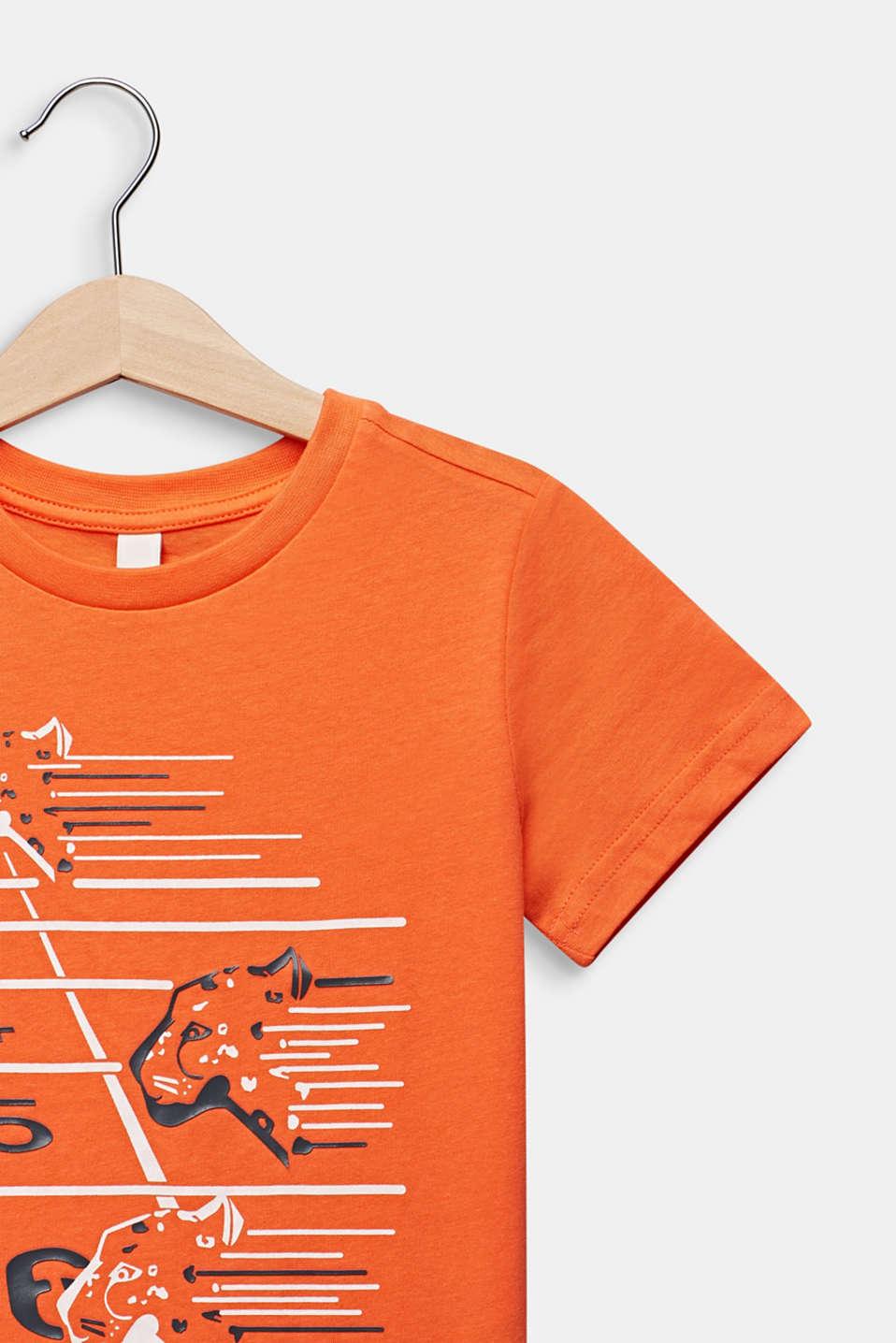 Printed T-shirt, 100% cotton, SUNNY ORANGE, detail image number 2