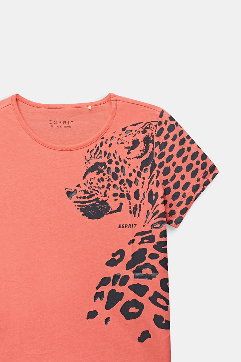 T-shirt with leopard print, 100% cotton, LCCORAL, detail image number 2