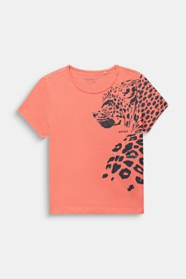 T-shirt with leopard print, 100% cotton, LCCORAL, detail