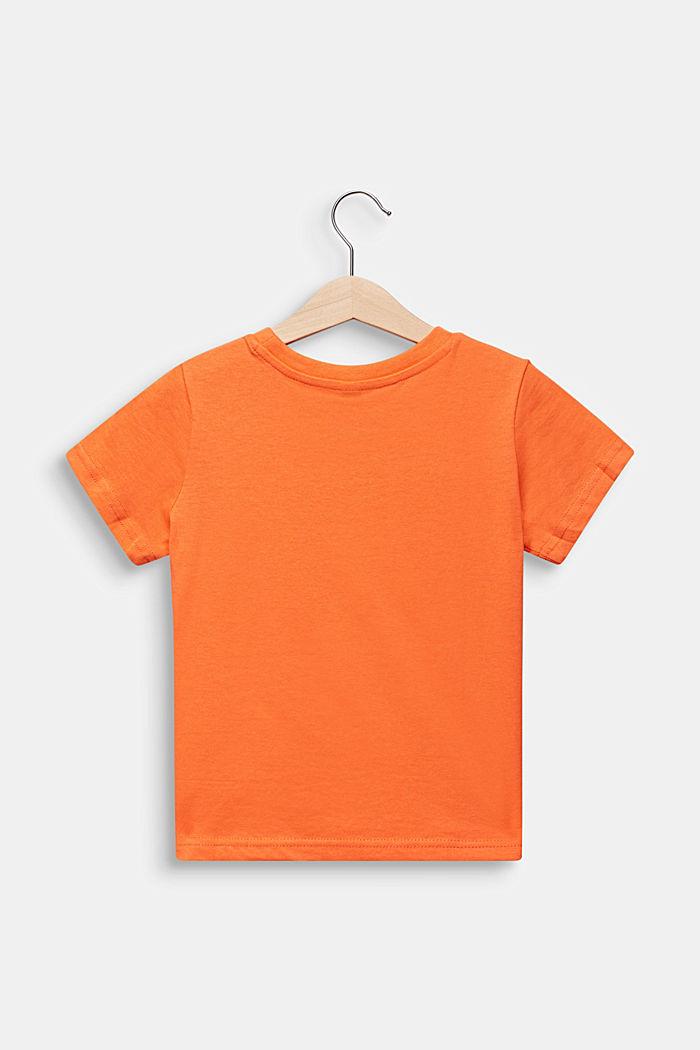 Statement-T-Shirt aus 100% Baumwolle, SUNNY ORANGE, detail image number 1