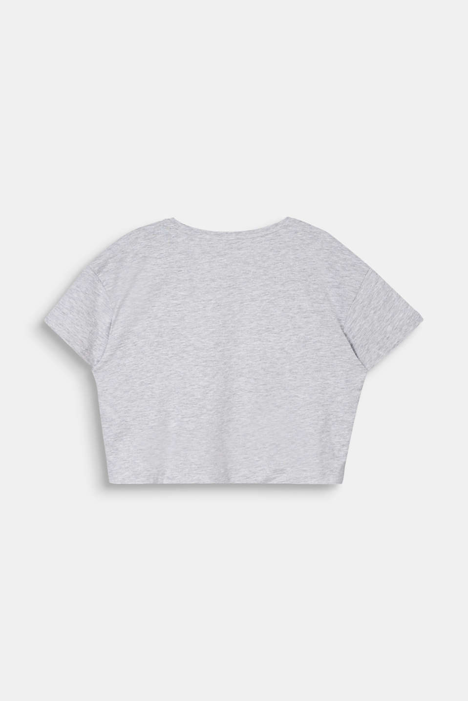 Cropped T-shirt with a print, LCHEATHER SILVER, detail image number 1