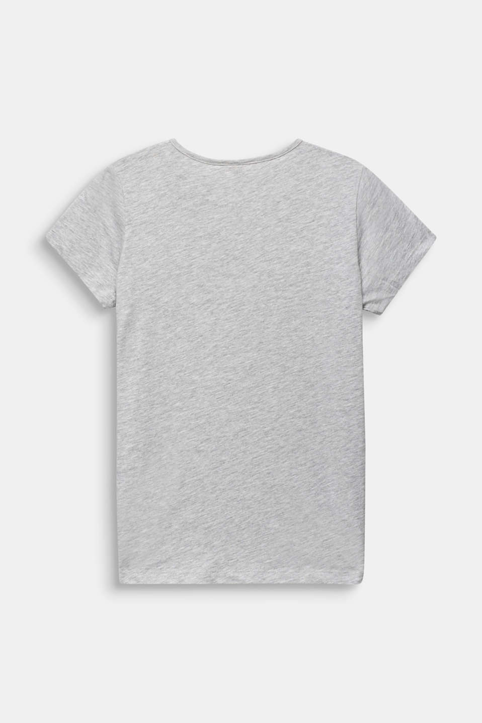Glitter print T-shirt, 100% cotton, LCHEATHER SILVER, detail image number 1