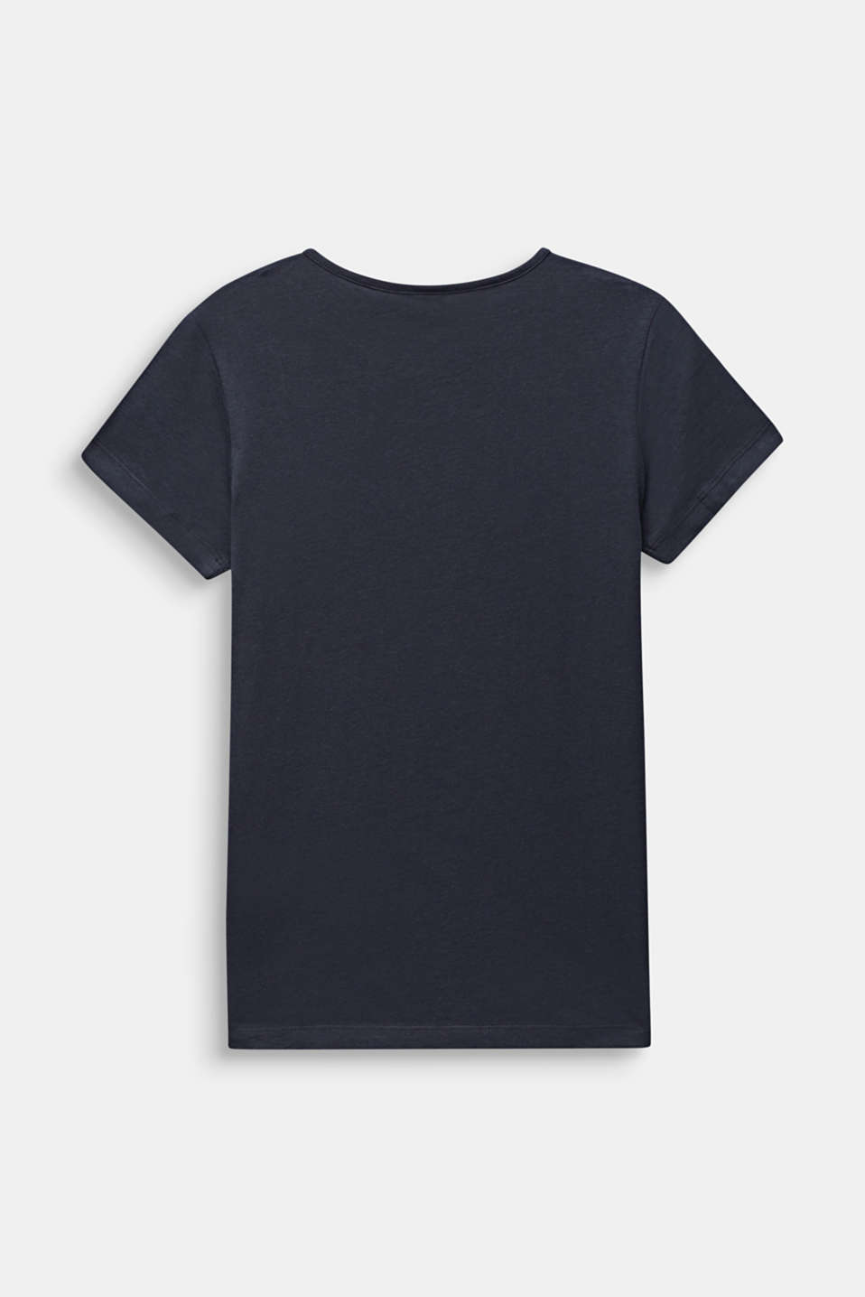 Glitter print T-shirt, 100% cotton, LCANTHRACITE, detail image number 1