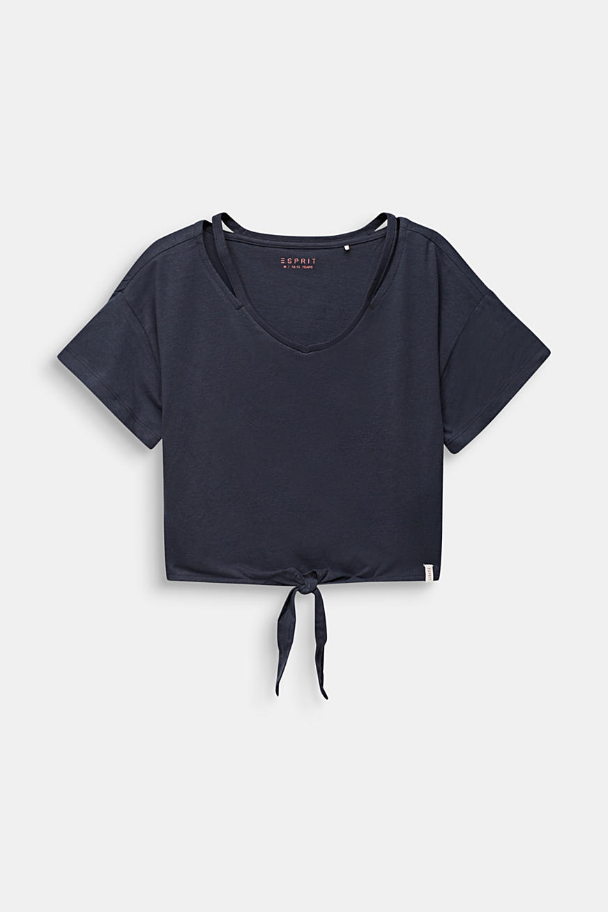 Cropped T-shirt with knot details