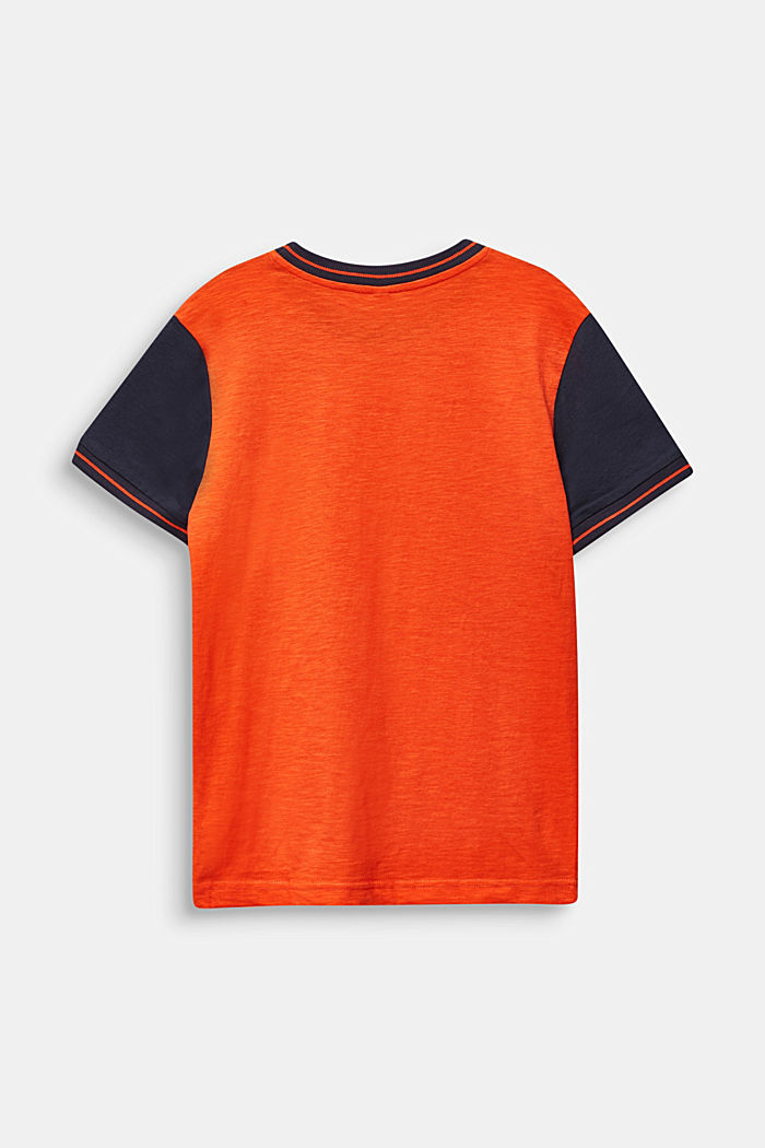T-shirt con stampa fotografica, 100% cotone, TANGERINE, detail image number 1