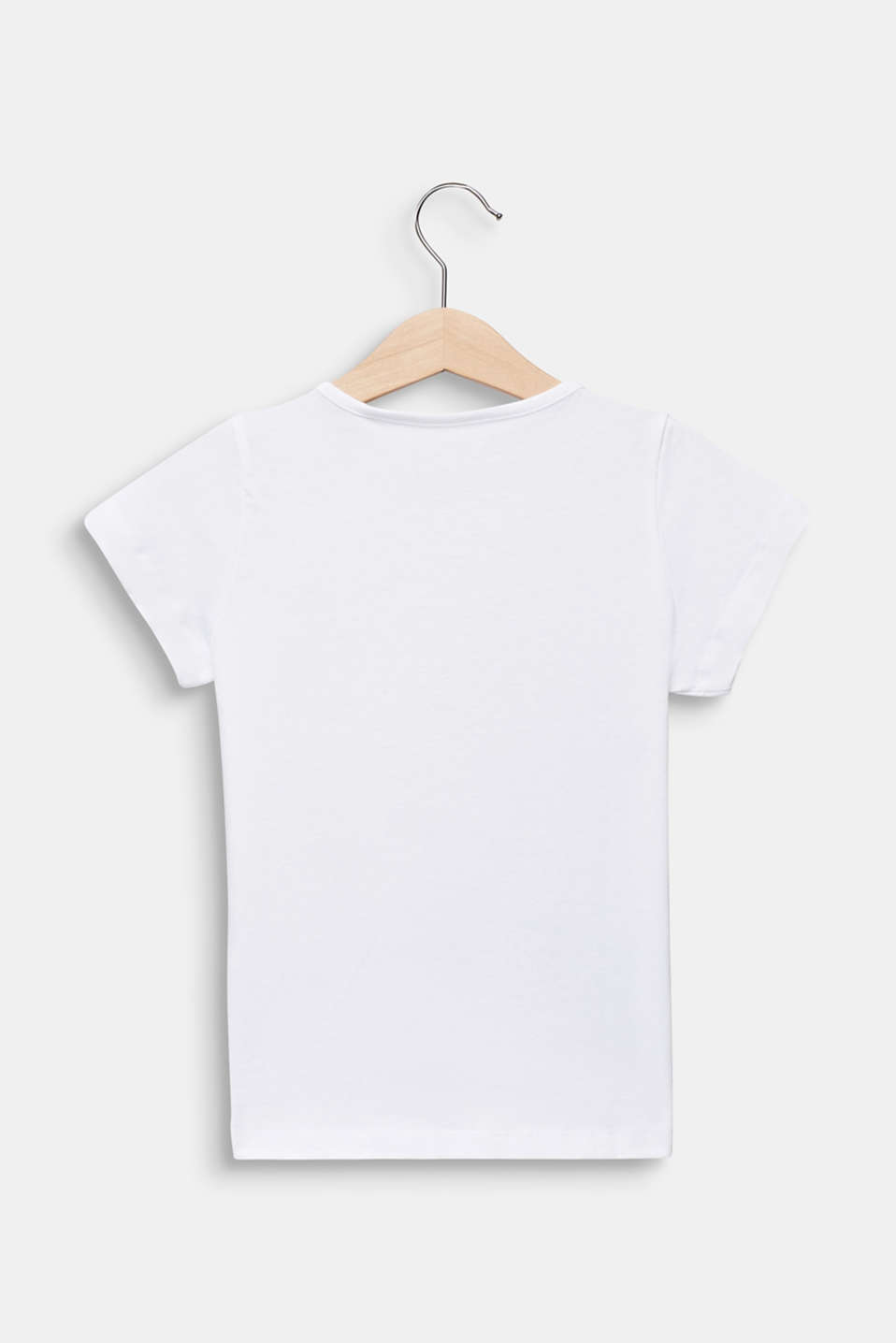 Glitter print T-shirt, 100% cotton, WHITE, detail image number 1