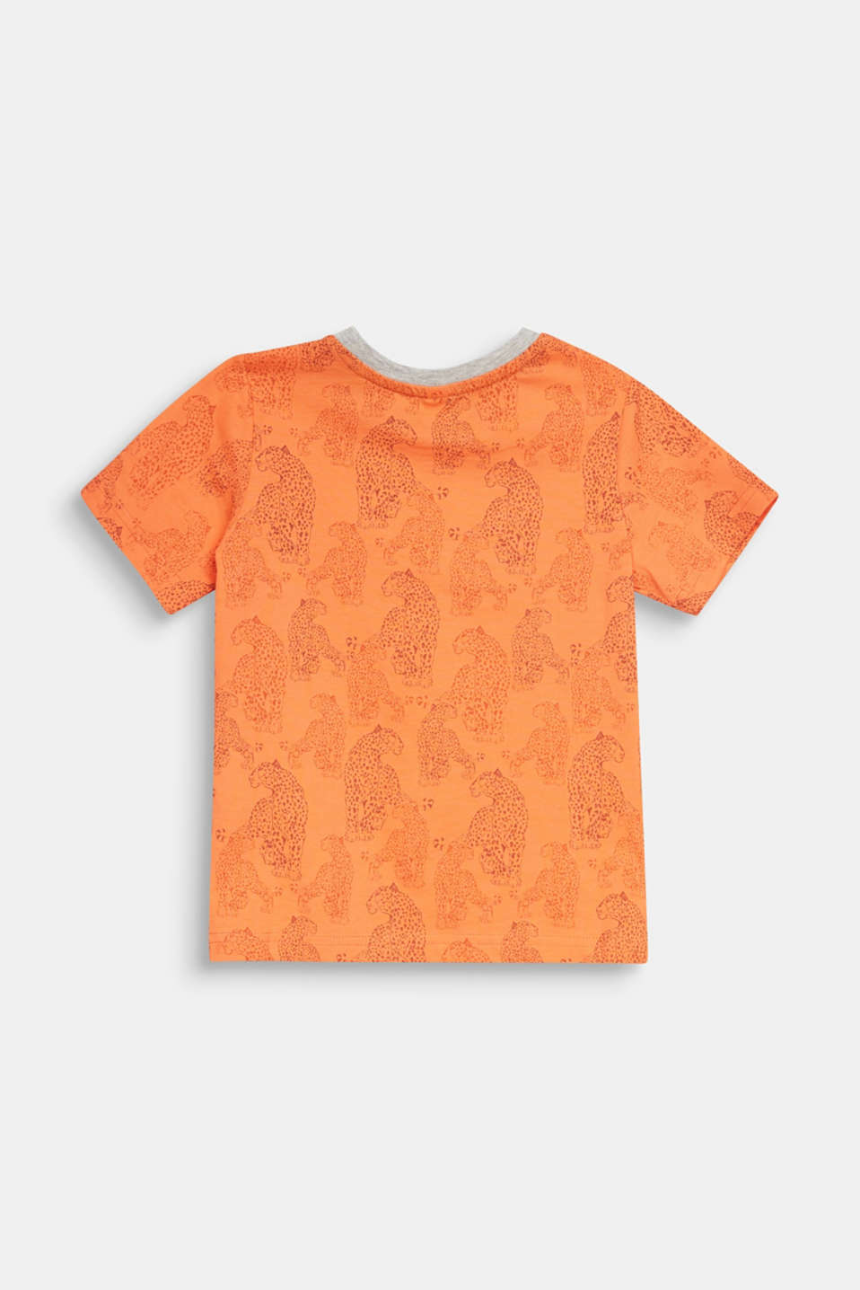 T-shirt with a leopard skin print, SUNNY ORANGE, detail image number 1