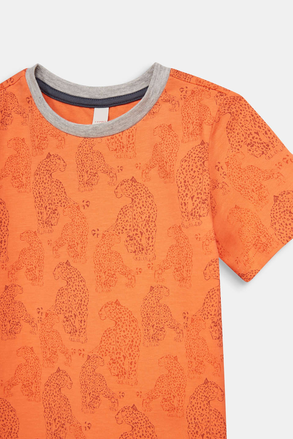 T-shirt with a leopard skin print, SUNNY ORANGE, detail image number 2