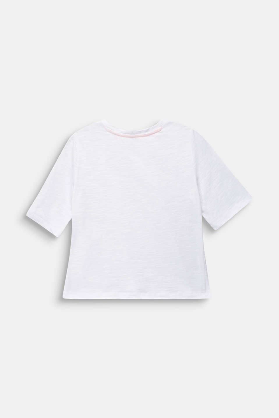 T-shirt with side slits, 100% cotton, LCWHITE, detail image number 1
