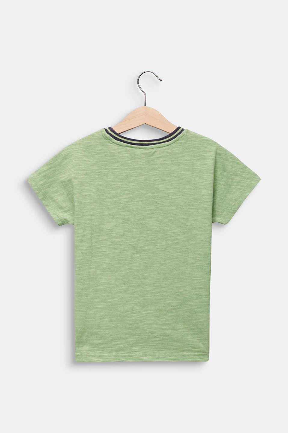 Print T-shirt with appliqué, 100% cotton, PASTEL GREEN, detail image number 1