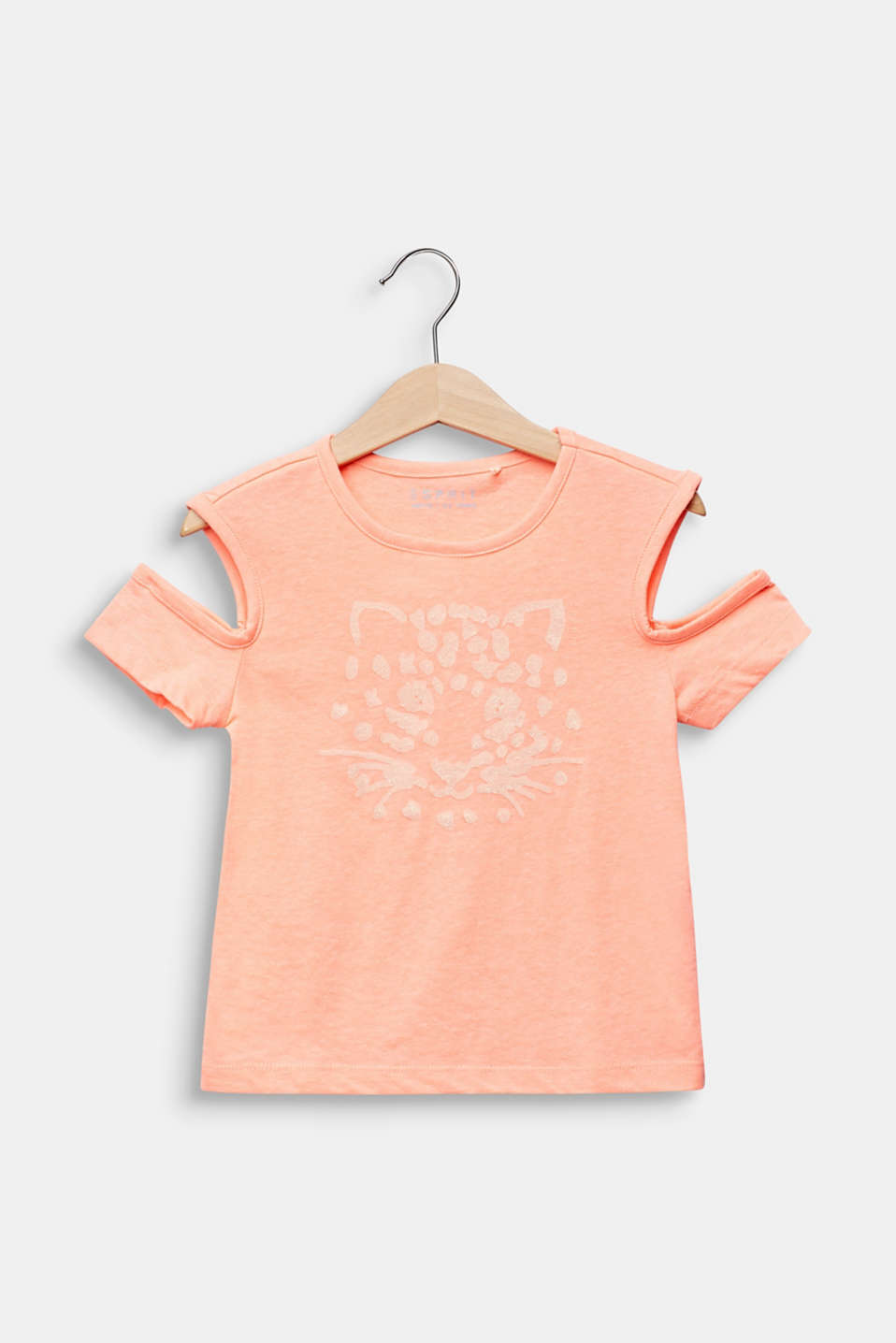 Esprit - Cut-out T-shirt with glitter print