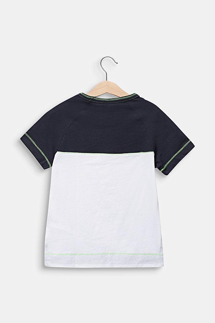 Colour block T-shirt, 100% cotton