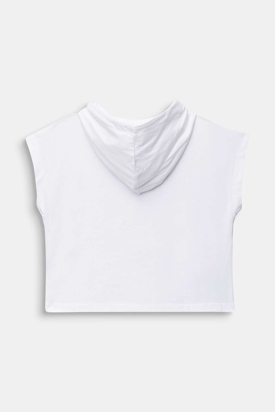 Boxy, hooded T-shirt with a print, 100% cotton, LCWHITE, detail image number 1