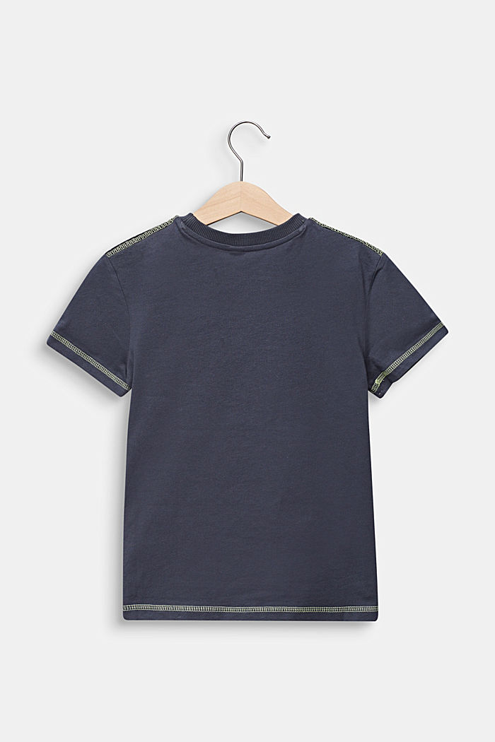 T-shirt with mesh details, 100% cotton