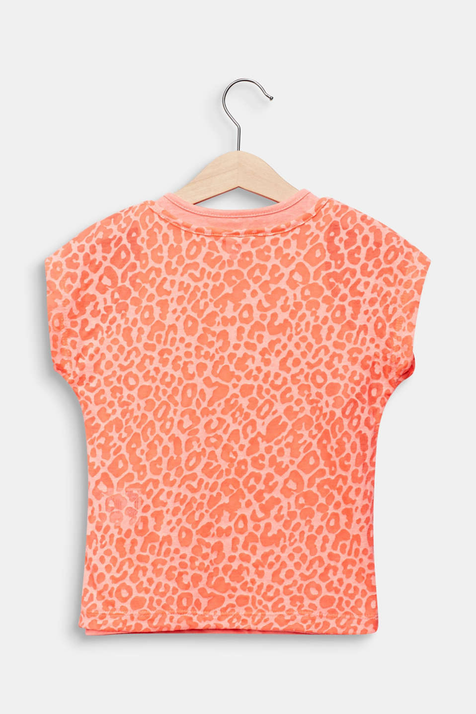 2-in-1 NEON T-shirt with leopard print, NEON CORAL, detail image number 1