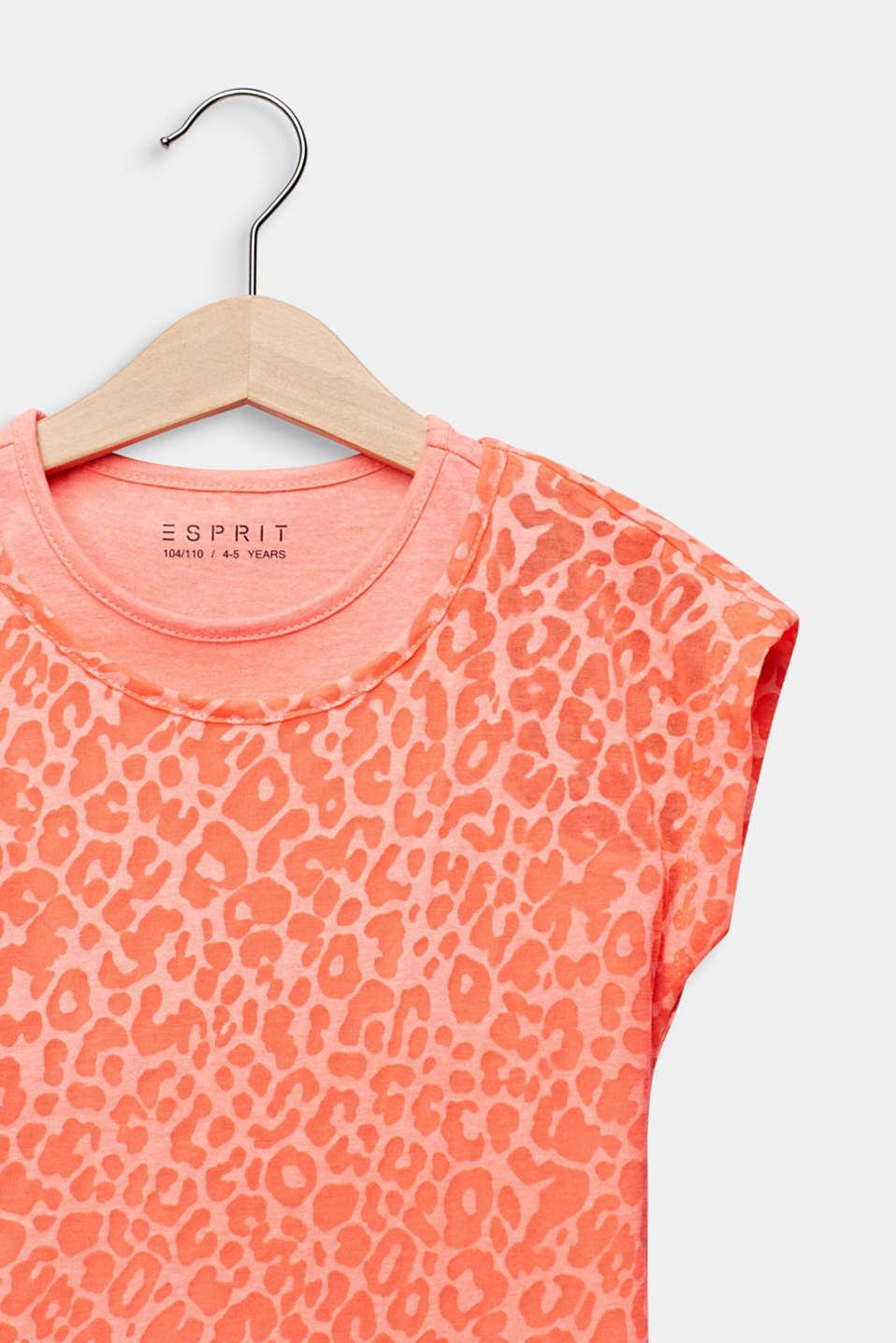 2-in-1 NEON T-shirt with leopard print, NEON CORAL, detail image number 2