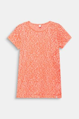2-in-1 NEON T-shirt with leopard print, LCNEON CORAL, detail