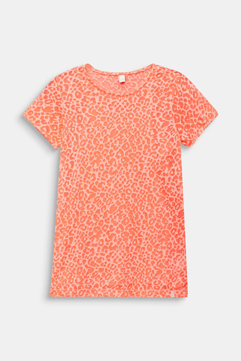 Esprit - 2-in-1 NEON T-shirt with leopard print