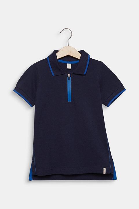 Piqué polo shirt with contrasts, 100% cotton