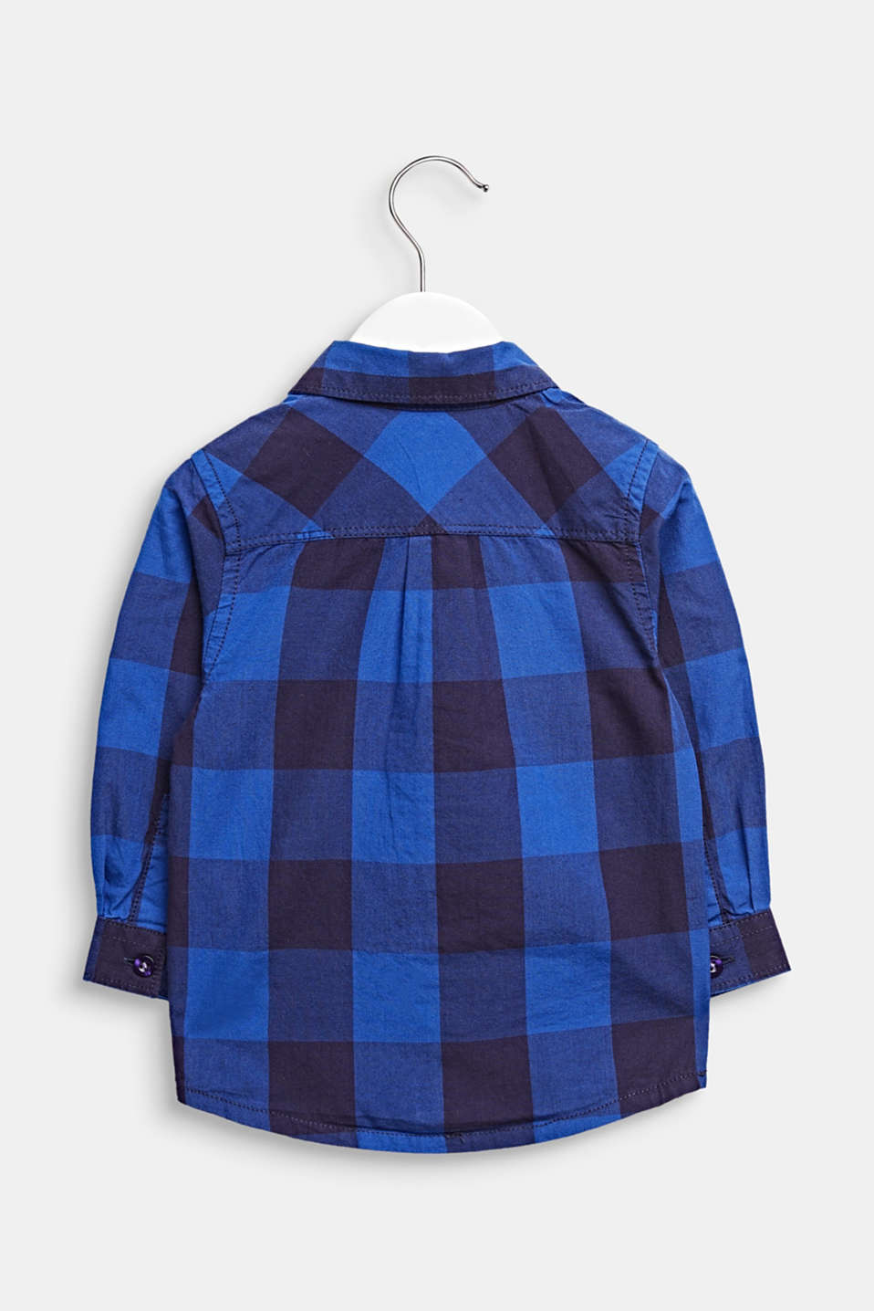 Check shirt, 100% cotton, LCINFINITY BLUE, detail image number 1