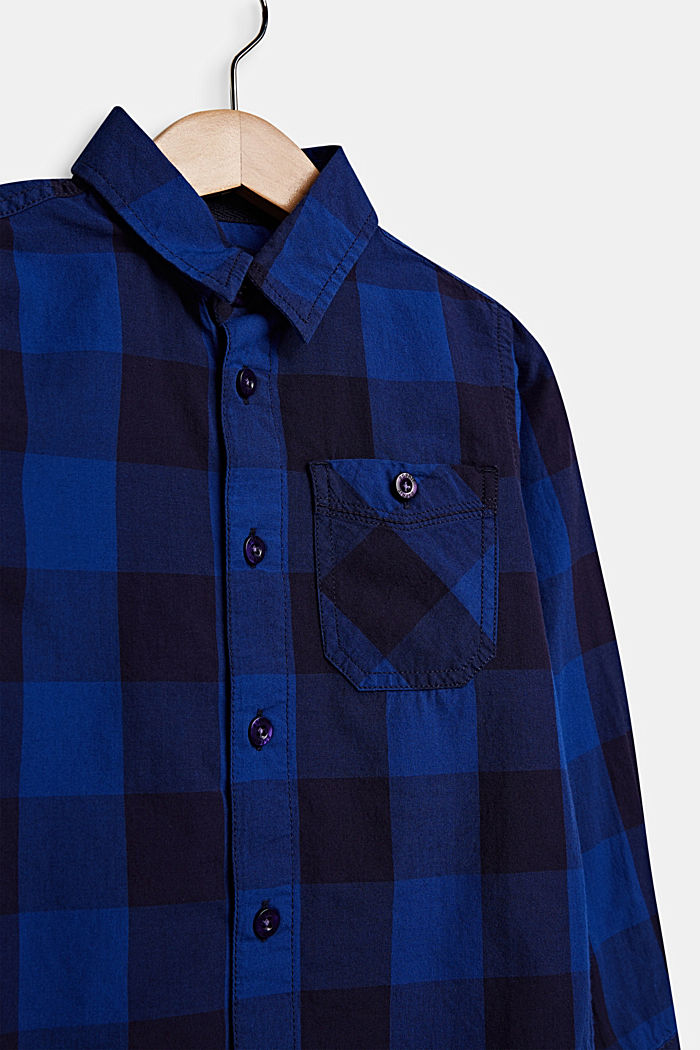 Check shirt in 100% cotton, INFINITY BLUE, detail image number 2