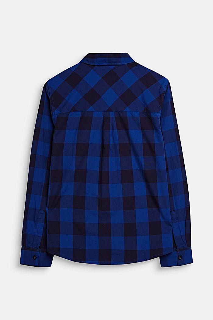 Karo-Hemd aus 100% Baumwolle, INFINITY BLUE, detail image number 1