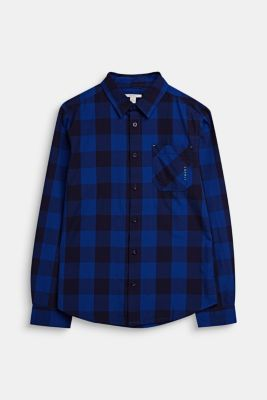 Check shirt in 100% cotton, LCINFINITY BLUE, detail