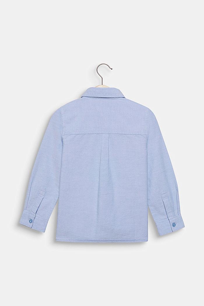 Hemd mit Oxford-Struktur, 100% Baumwolle, PASTEL BLUE, detail image number 1
