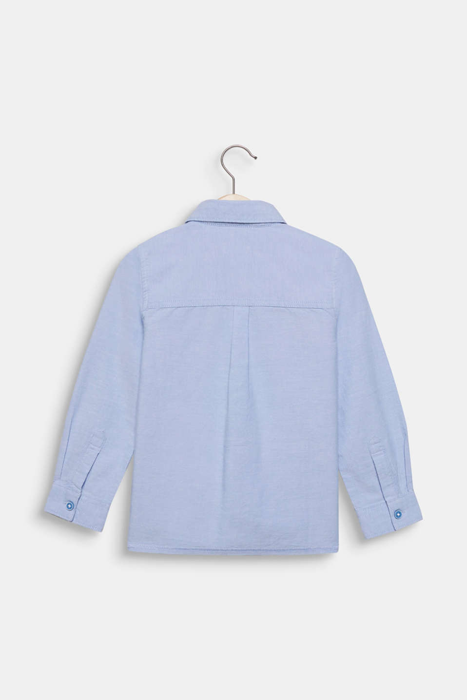 Shirt with an Oxford texture, 100% cotton, PASTEL BLUE, detail image number 1