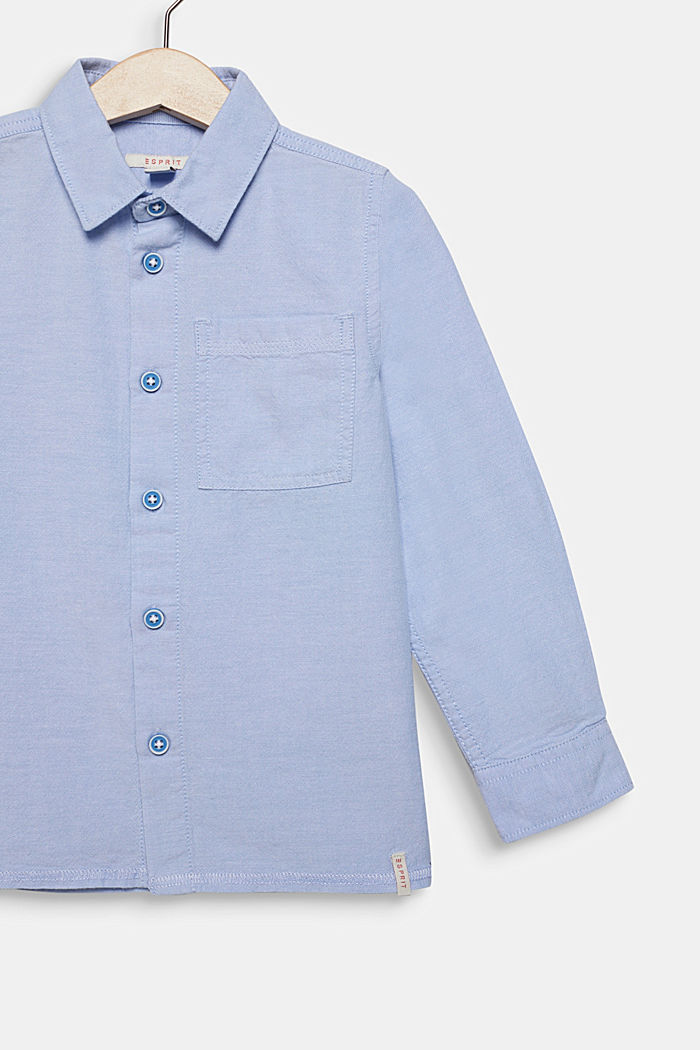 Shirt with an Oxford texture, 100% cotton, PASTEL BLUE, detail image number 2