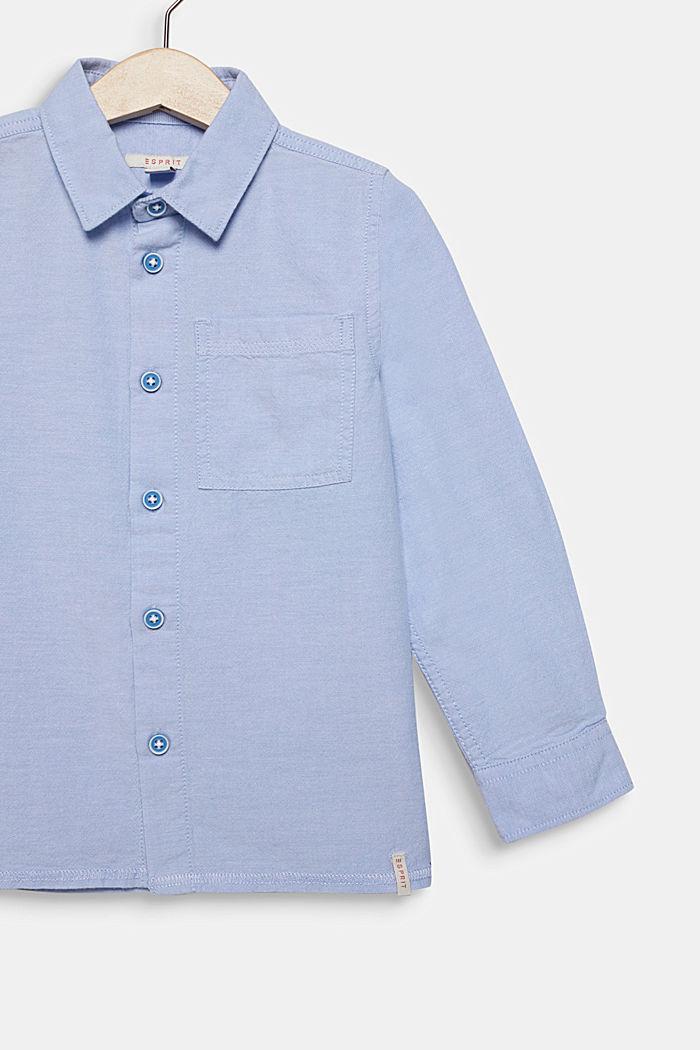 Hemd mit Oxford-Struktur, 100% Baumwolle, PASTEL BLUE, detail image number 2