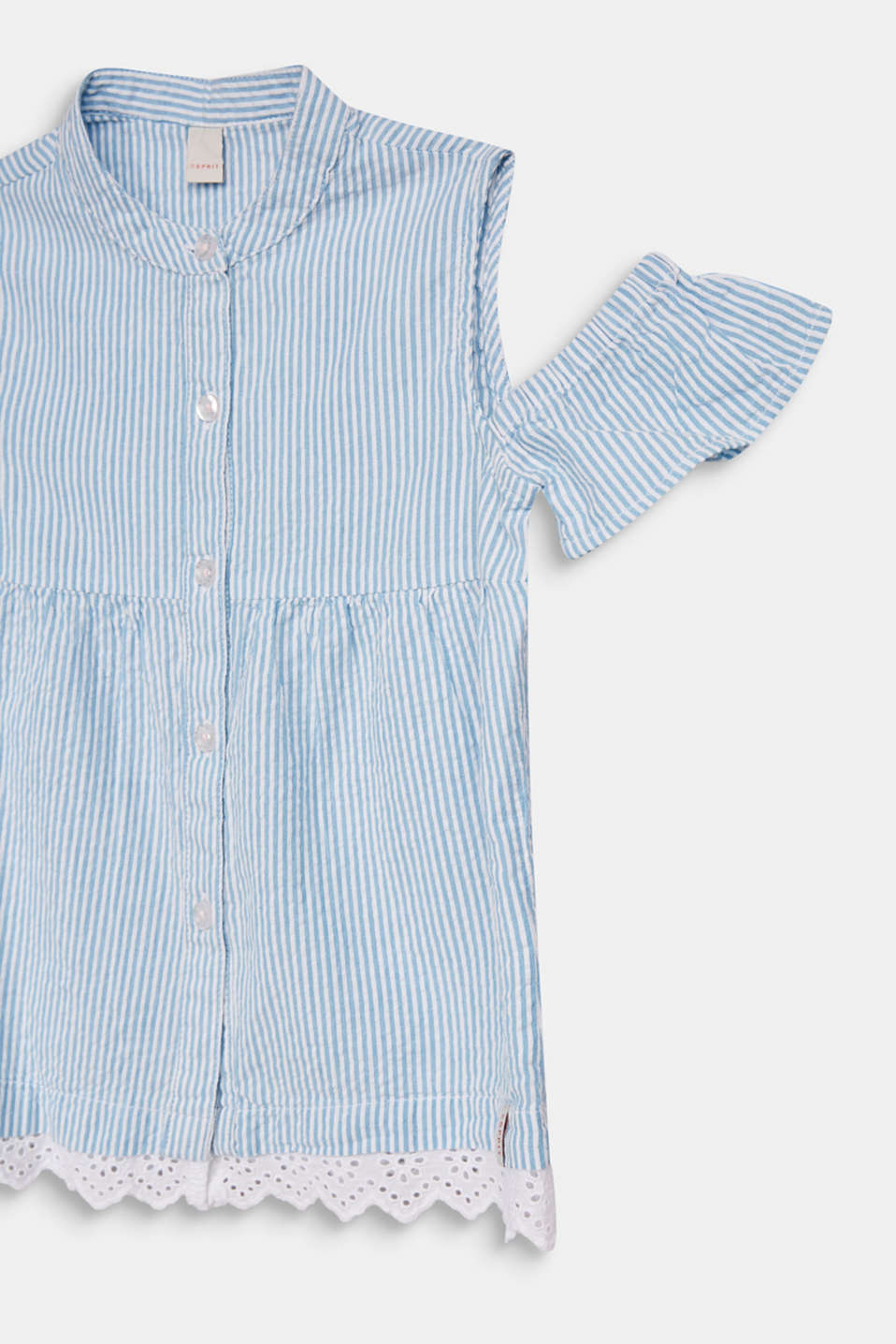 Striped blouse with cold shoulders, WHITE, detail image number 2
