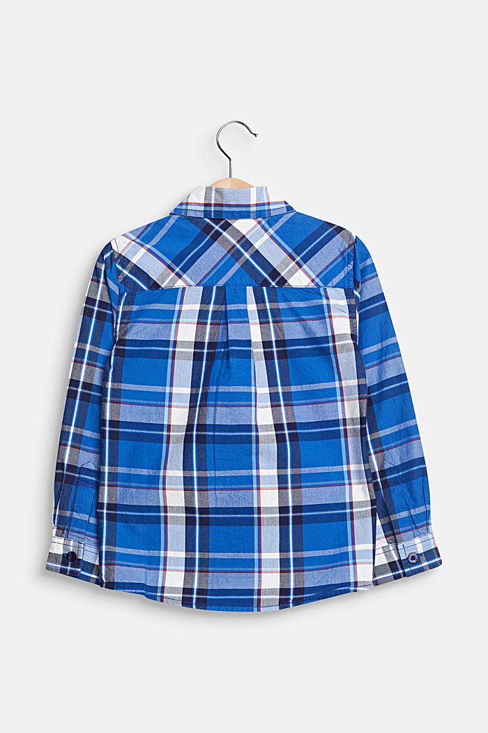Check shirt in 100% cotton, ELECTRIC BLUE, detail image number 1