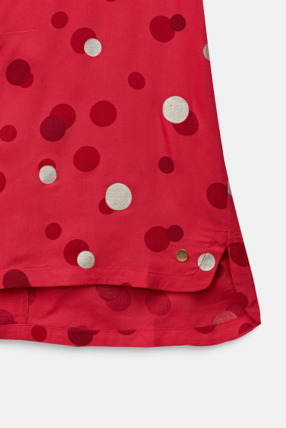 Blouse with a polka dot print, LCRASPBERRY, detail image number 2