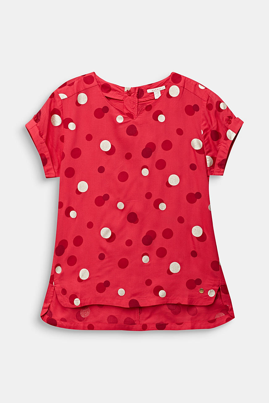 Blouse with a polka dot print