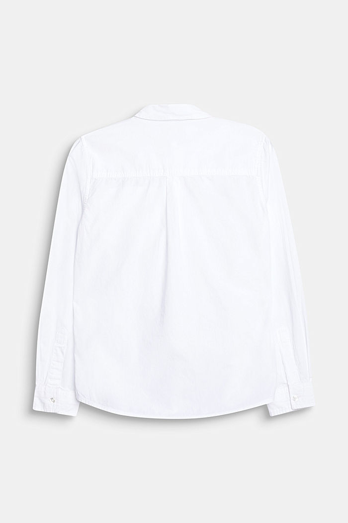 Classic shirt in 100% cotton, WHITE, detail image number 1