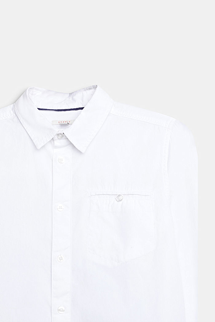 Classic shirt in 100% cotton, WHITE, detail image number 2