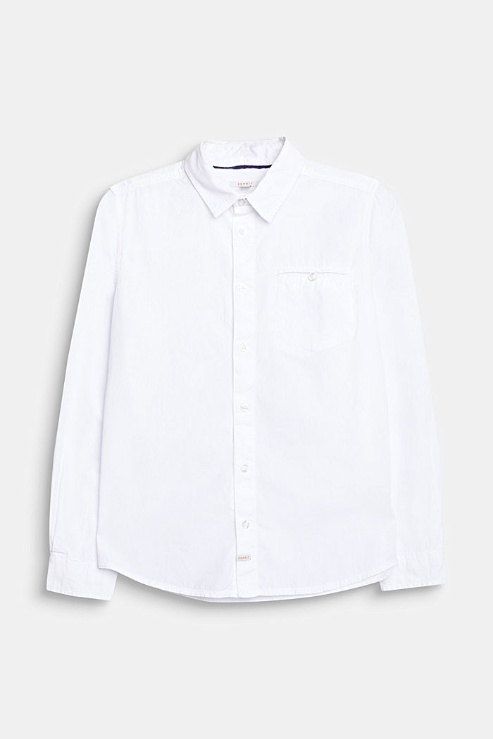 Classic shirt in 100% cotton, WHITE, detail image number 0