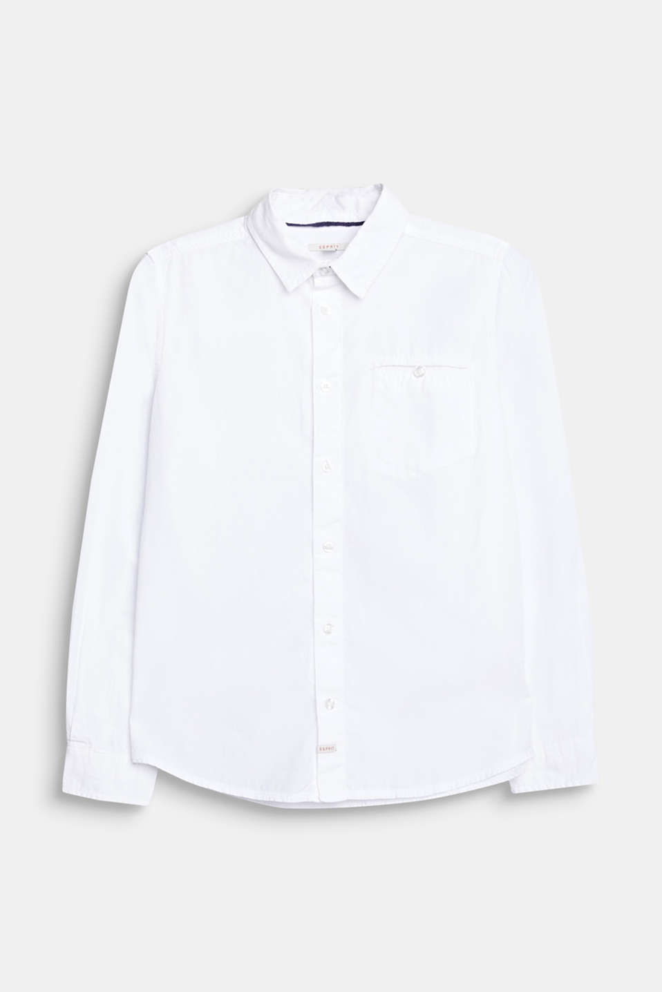 Classic shirt in 100% cotton, LCWHITE, detail image number 0