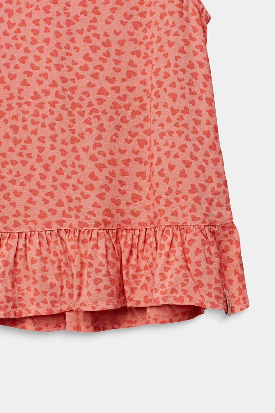 Blouse top with a multi-heart print, CORAL, detail image number 3