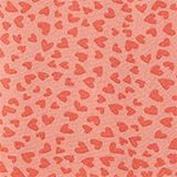 Blouse top with a multi-heart print, CORAL, swatch
