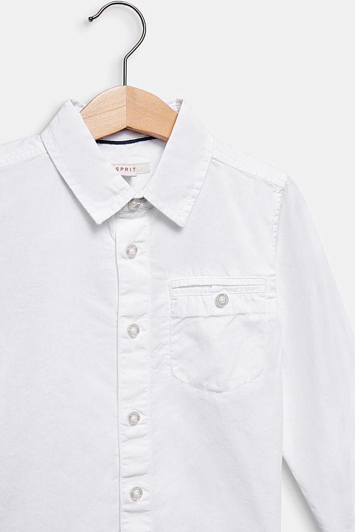 Hemd aus 100% Baumwolle, WHITE, detail image number 2